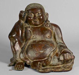 Large Asian Bronze Buddha Figure