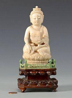 Antique Ivory Buddha