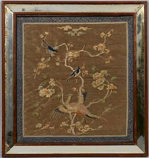 Qing Chinese Silk Embroidery