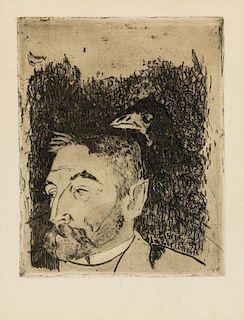 Paul Gauguin, (French, 1848-1903), Portrait de Stephane Mallarme, 1891