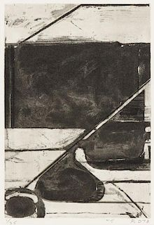 Richard Diebenkorn, (American, 1922-1993), Untitled (pl. 5 from Five Aquatints with Drypoint), 1978