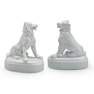 UNION PORCELAIN WORKS Rare dogs of Alcibiades