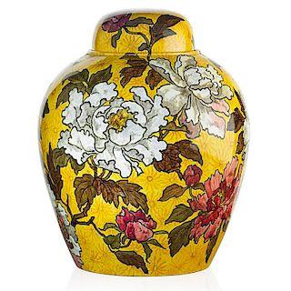 JOHN BENNETT Large covered jar