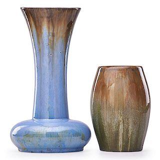 FULPER Two vases, one Prang
