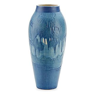 A.F. SIMPSON; NEWCOMB COLLEGE Tall scenic vase