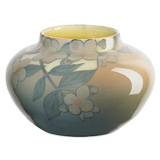 K. SHIRAYAMADANI; ROOKWOOD Jewel Porcelain vase