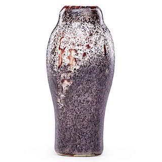 ERNEST CHAPLET Fine oxblood vase