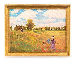 Paul Saltarelli, (Italian, 20th Century), Field of Poppies, after Claude Monet