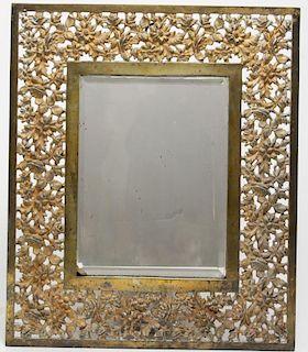 Bradley & Hubbard Victorian Gilt Iron Stand Mirror