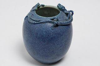 Chinese Robin's Egg Blue Porcelain Vase