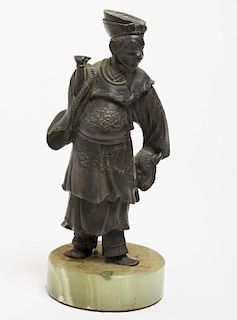Chinese Court Figure, in Bronzed Metal