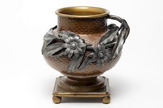 Aesthetic Movement Bradley & Hubbard Metal Vase