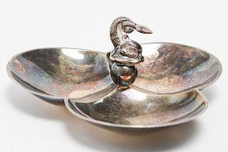 American Sterling Silver Trefoil Serving Dish