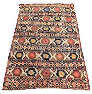 """Caucasian Kilim Carpet, 6' 9"""" X 10' 5"""""""