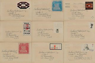 Nine Culture Carriers - Stamp Out Art Project Envelopes: Derek Boshier (British, b. 1937), Octagon; David Hockney (British, b