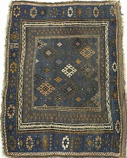 Blue Dagestan Saddle Bag Mat