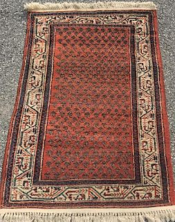 Oriental Mat with Red Field