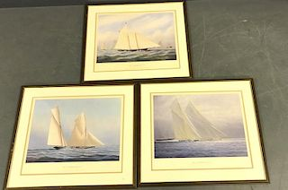 Three America's Cup Prints