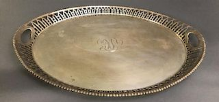Large English Oval Silver Platter