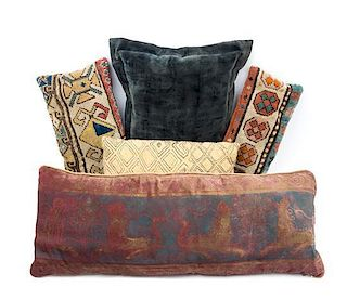 A Group of Tabourets and Pillows
