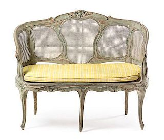 * A Louis XV Painted Settee