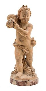 * A French Terra Cotta Figure Height 13 inches.