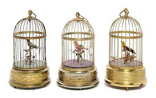 * Three Birdcage Automata Height of tallest 11 1/2 inches.