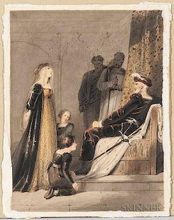 British School, 19th Century, Elizabeth Woodville Pleading for Her Children (the children of Edward IV, Edward V and Richard