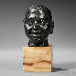 Auguste Rodin (French, 1840-1917) or Camille Claudel (French, 1864-1943)      Tête de rieur (Laughing Man)