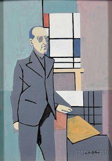 Max Arthur Cohn (American, 1903-1998)      Piet Mondrian in his Studio
