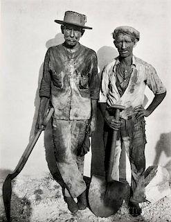 Walker Evans (American, 1903-1975)      Dock Workers, Havana