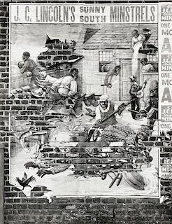 Walker Evans (American, 1903-1975)      Minstrel Poster, Alabama