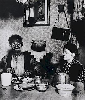 Bill Brandt (British, 1904-1983)      Northumbrian Coal Miner Eating His Evening Meal