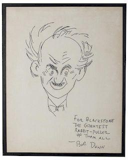 Napkin Caricature of Blackstone.