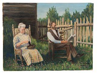 Oil Painting by Inez Blackstone Kitchen.