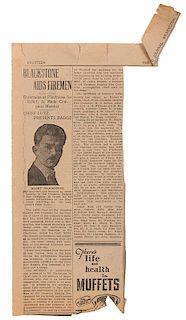 Harry Blackstone's 1926-27 Season Scrapbook.