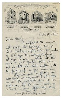 Archive of Harry Blackstone—Walter Gibson Correspondence and Records.