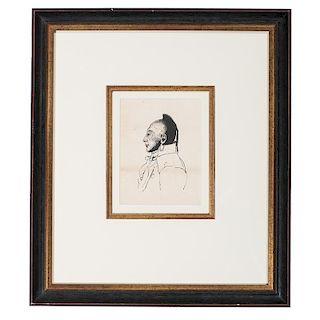 After Charles Balthazar Julien Févret de Saint-Mesmin (French, active in America, 1770-1852), Ink on Paper