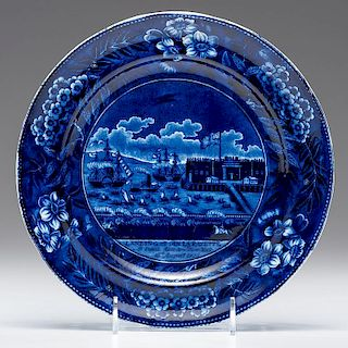 Staffordshire <i>Landing of General Lafayette</i> Plate