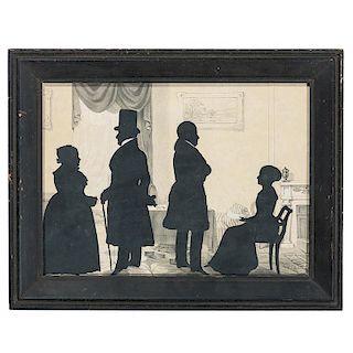 Auguste Edouart, Silhouette of Boston Family