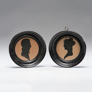 Silhouettes of General Samuel Blackburn of Virginia and His Wife