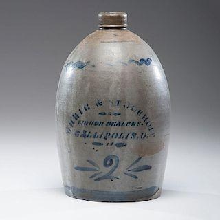 Gallipolis, Ohio Stoneware Jug