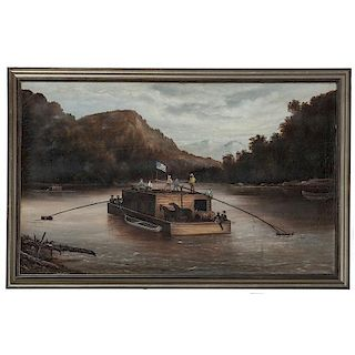 Ohio Folk Art River Scene