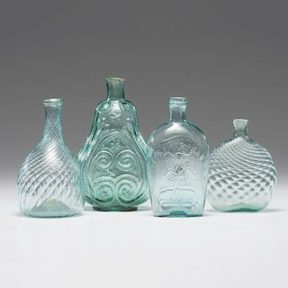 Four Pieces of Early American Glass