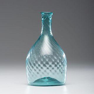 Aquamarine Midwestern Glass Club Bottle