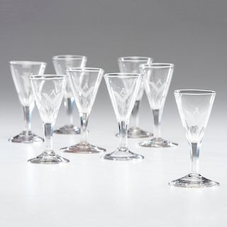 Etched Glass Masonic Cordials