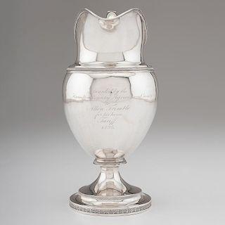 Nathan Hazen Coin Silver Equestrian Trophy, Presented to Ohio Governor Allen Trimble