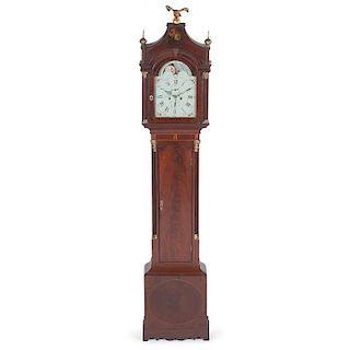 Effingham Embree Federal Tall Case Clock