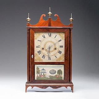 <i>Seth Thomas</i> Off-Center Pillar & Scroll Clock, ca 1815