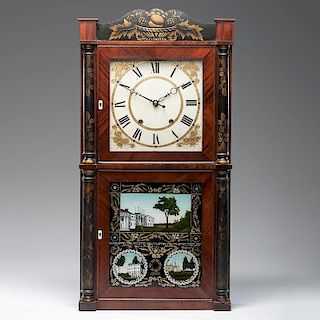 <i>Henry Terry</i> Wooden Works Clock